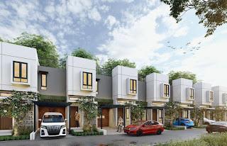 Tampak Belakang Rumah Cantik Mewah Murah Konsep Dua Wajah di Kawasan Segitiga Emas Setiabudi Ringroad Medan - Twin Luxury