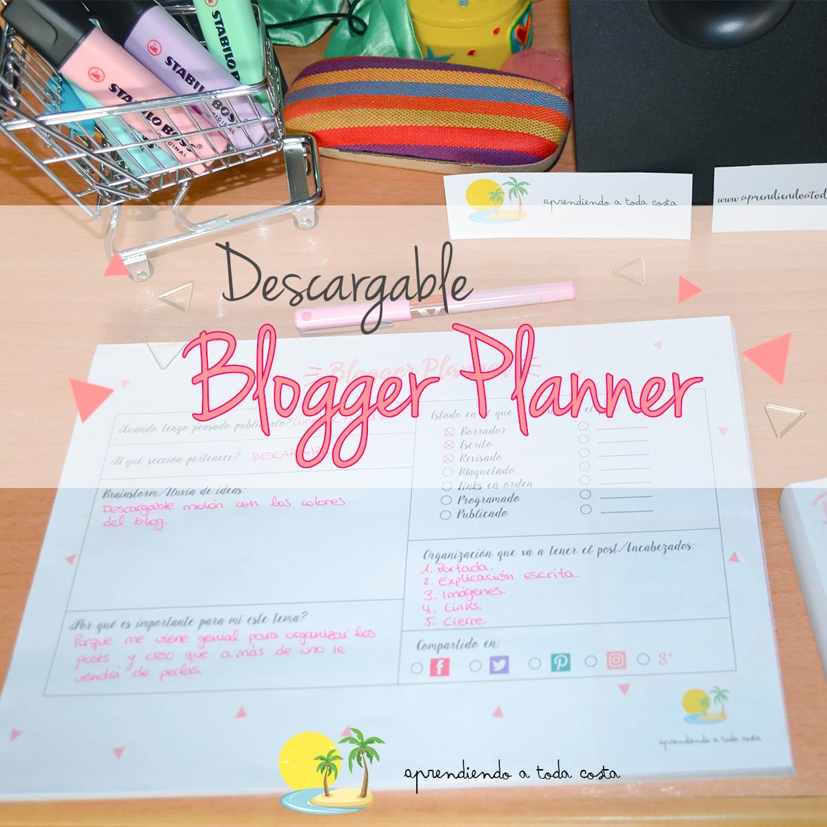 Blogger Planner descargable