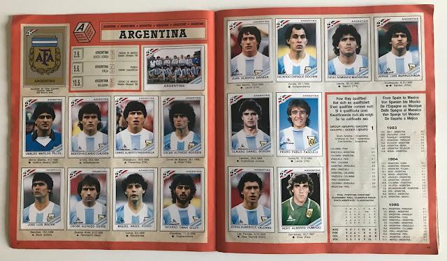 Figurine Argentina Messico 86