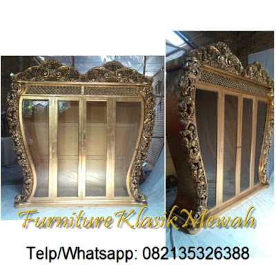SELL INDONESIA  CLASSIC FURNITURE-ARMOIRE CARVED WITH GOLD LEAF FRENCH STYLE