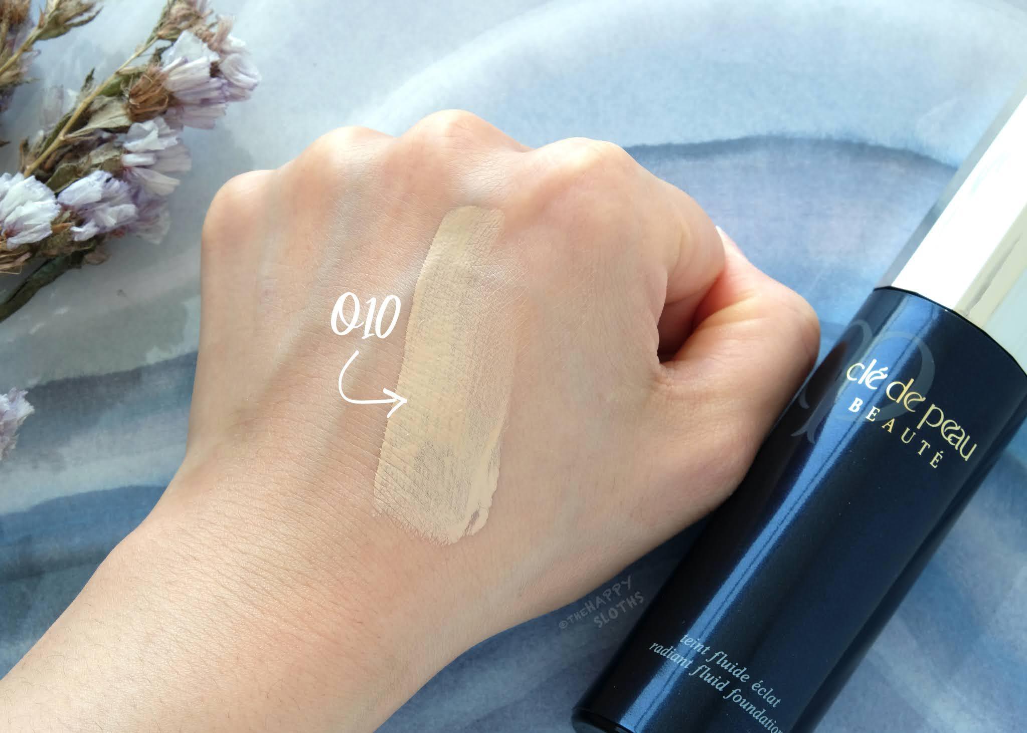 """Clé de Peau Beauté   Radiant Fluid Foundation in """"O10"""": Review and Swatches"""