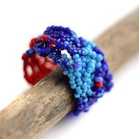 стильные кольца кольца купить эксклюзивное кольцо из бисера