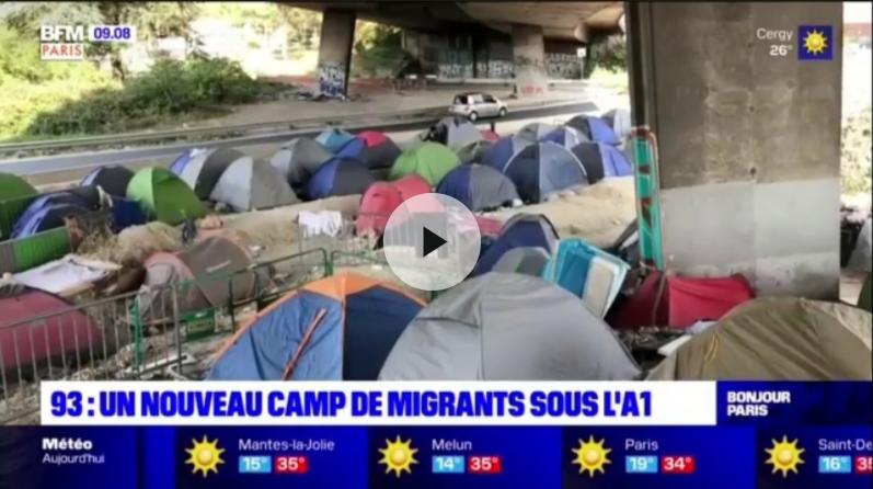 Saint-Denis : Un nouveau campement de migrants installé sous l'A1