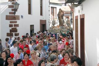 Resultado de imagen de Procesión de la Virgen del Rosario | Patrona Montoro 2017
