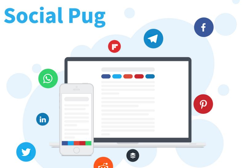 Social Pug plugin share artikel