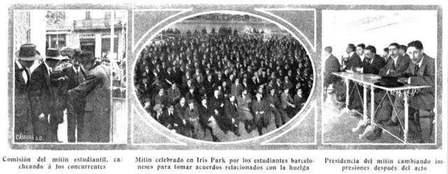Asamblea de universitarios en Barcelona (Mundo Gráfico, 13-12-1911)