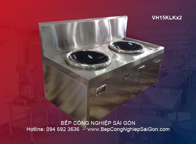 Bếp từ công nghiệp 2 lò mặt kính lõm VH15KLKx2