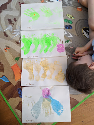 Hand and foot print caterpillar life cycle