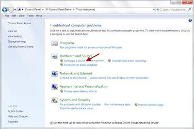 Hardware Troubleshooter di Windows