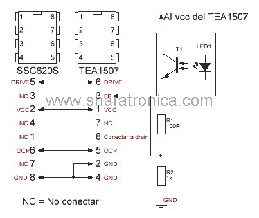 SSC620S por TEA1507.
