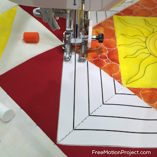 Learn how to mark a quilt block using Freezer Paper