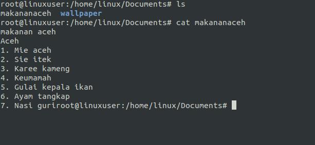 cat linux
