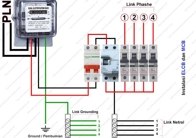Cara Memasang ELCB (Earth Leakaque Circuit Breaker)