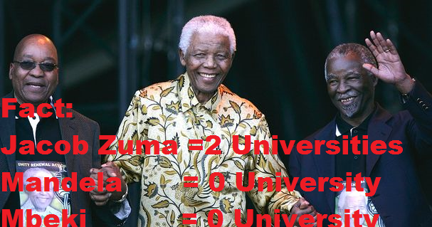 Fact jacob zuma administration has built universities