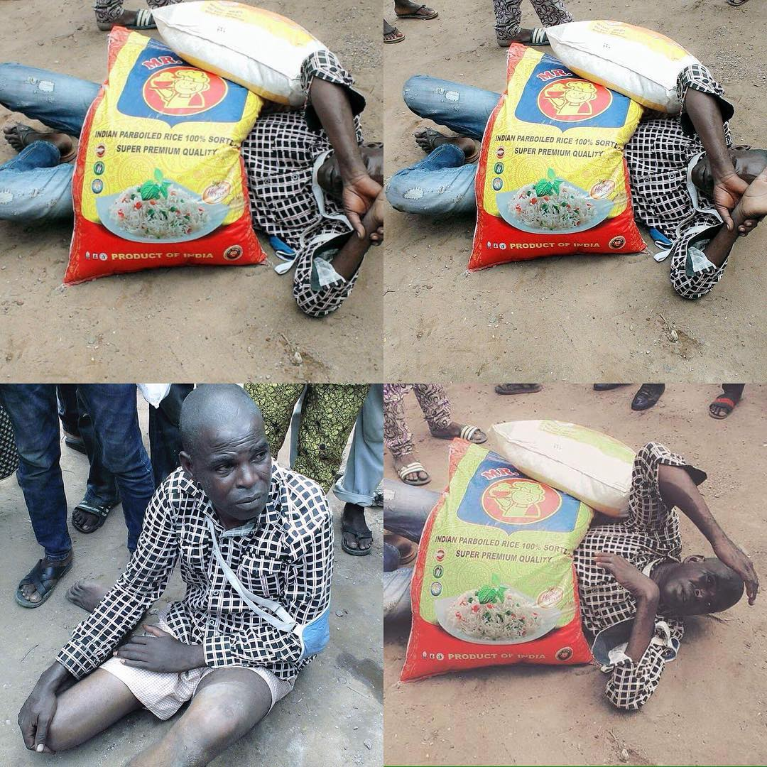 Man Caught In Lagos Ing Two Bags Of Rice With Fake Money