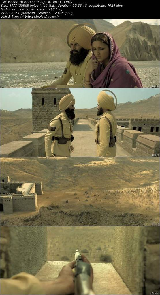Kesari 2019 Hindi 720p HDRip 1GB