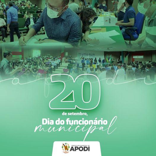 A prefeitura de Apodi parabeniza todos os funcionários municipais e agradece pela dedicação e trabalho de cada um.