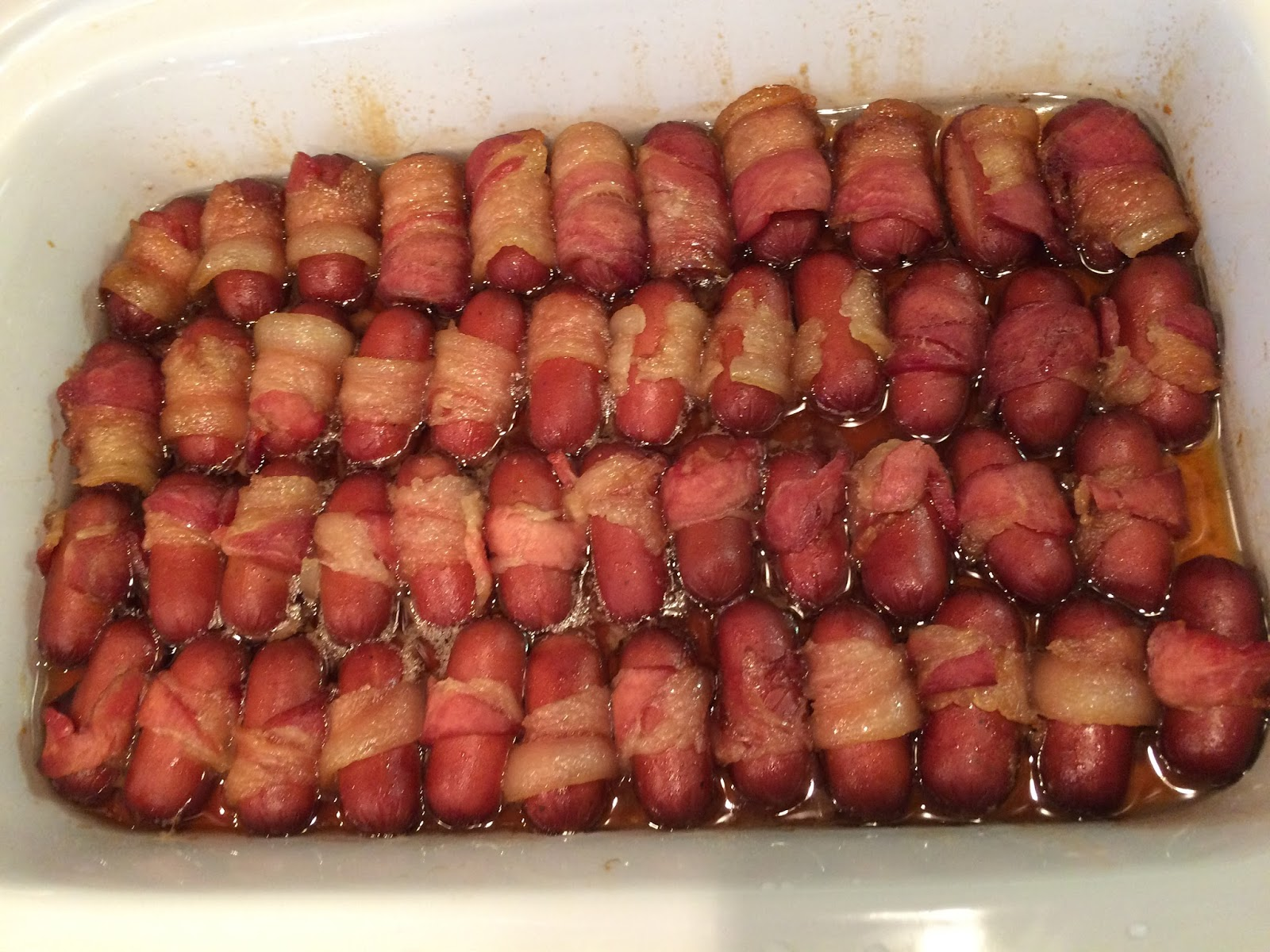 Crock Pot Bacon Wrapped Smokies Chasing Saturdays