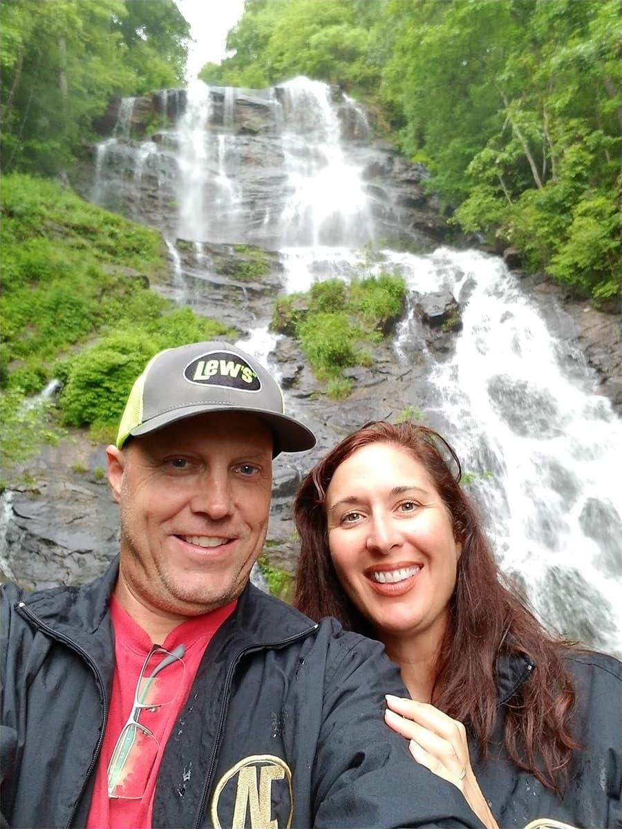 Producer & Sweet Pea at Amicolola Falls