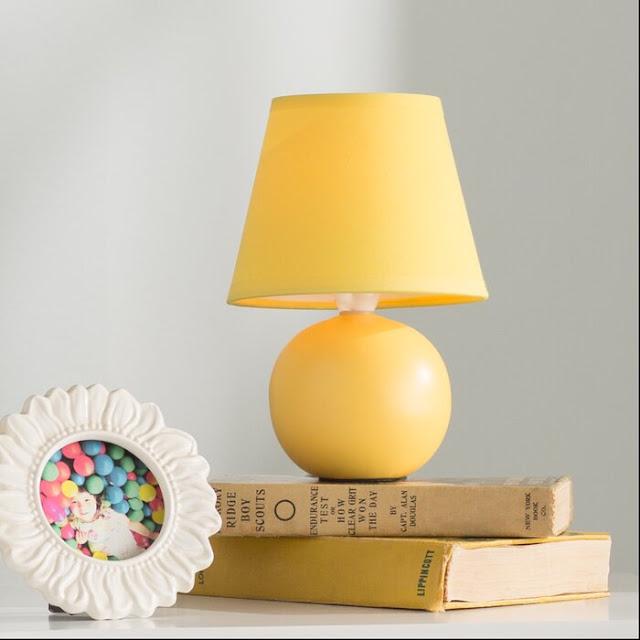 Louis Ceramic Globe Mini 9inch Table Lamp