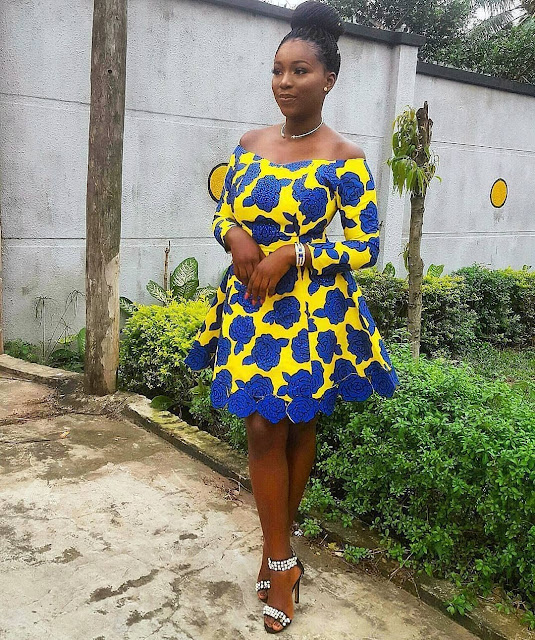 2019 Lovely Ankara short Gown Styles for Pretty Ladies