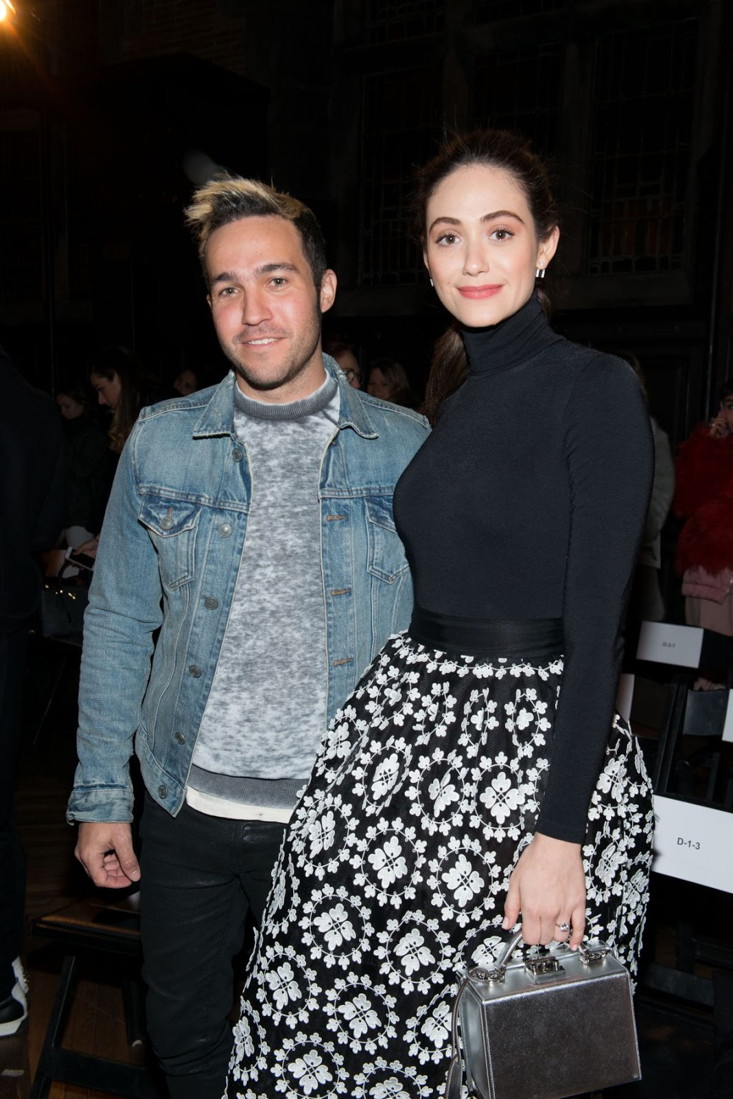 Emmy Rossum at Monse Front Row Show at New York Fashion Week