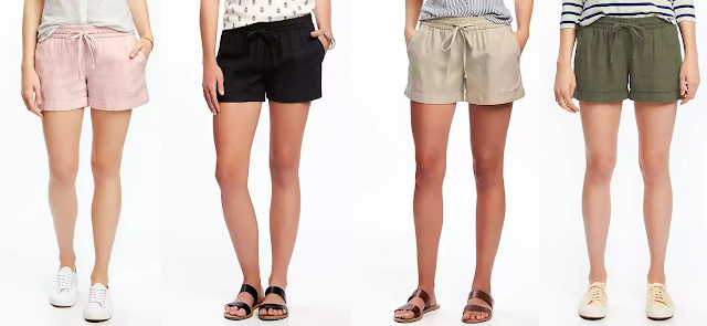 Old Navy Mid-Rise Cuffed Linen Blend Shorts $12 (reg $23)