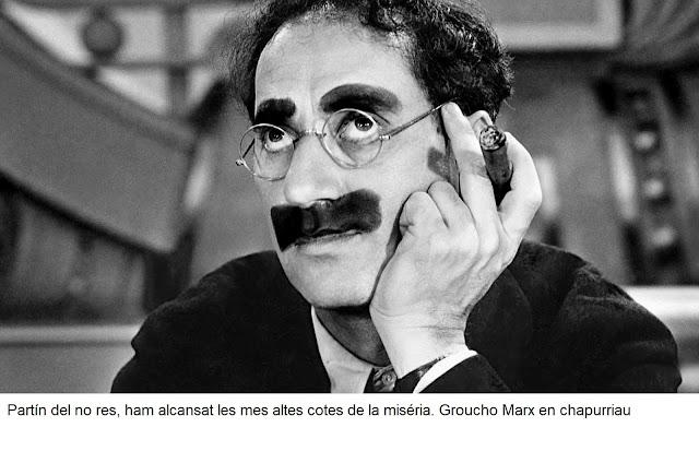 partín del no res, ham alcansat les mes altes cotes de la miséria, Groucho Marx, chapurriau