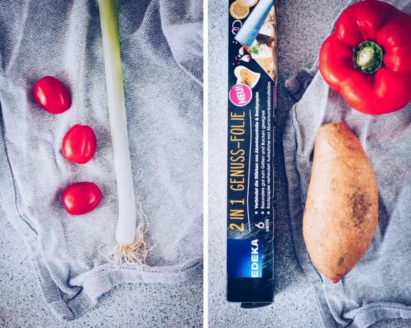 Frische Zutaten auf dem Grill: Rezept für Grillpäckchen mit Lachs und Süßkartoffeln. By titatoni.de