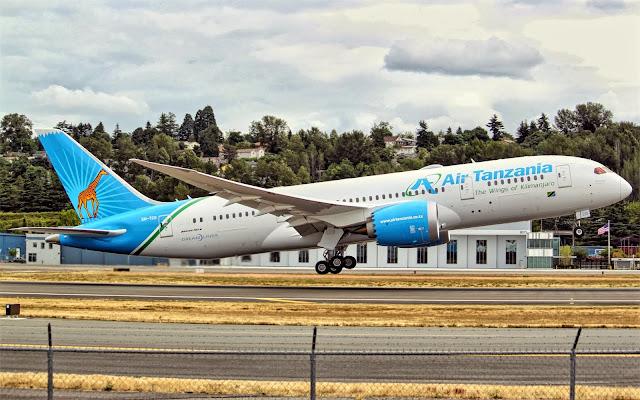 air tanzania boeing 787-8 dreamliner