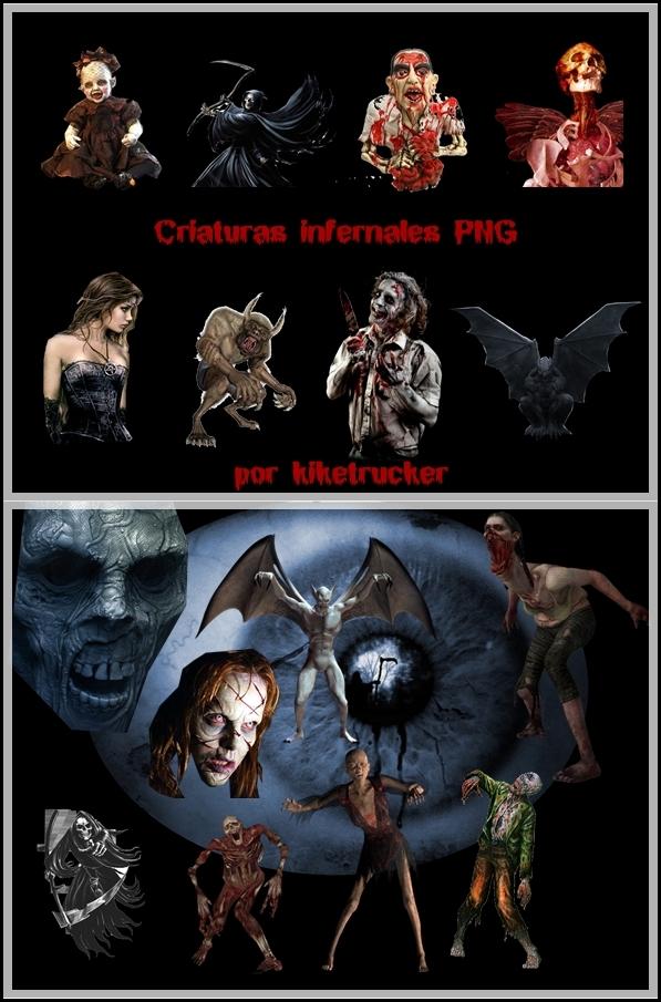 Criaturas infernales PNG | Fotomontajes Halloween