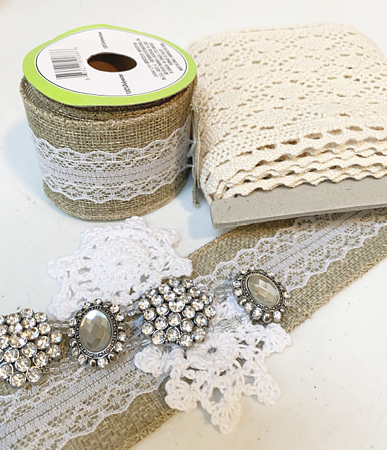 lace, ribbon and bling