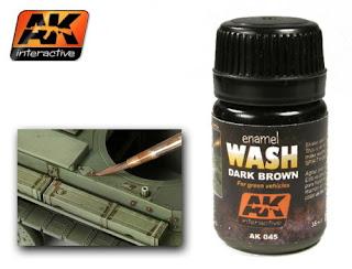 AK-Interactive Enamel Colour - Dark Brown for Green Vehicles 35ml #AK-045