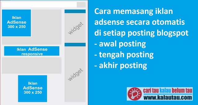 kalautau.com - Memasang Adsense diposting Blogspot, Awal Tengah Akhir