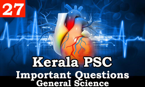 Kerala PSC - Important and Expected General Science Questions - 27