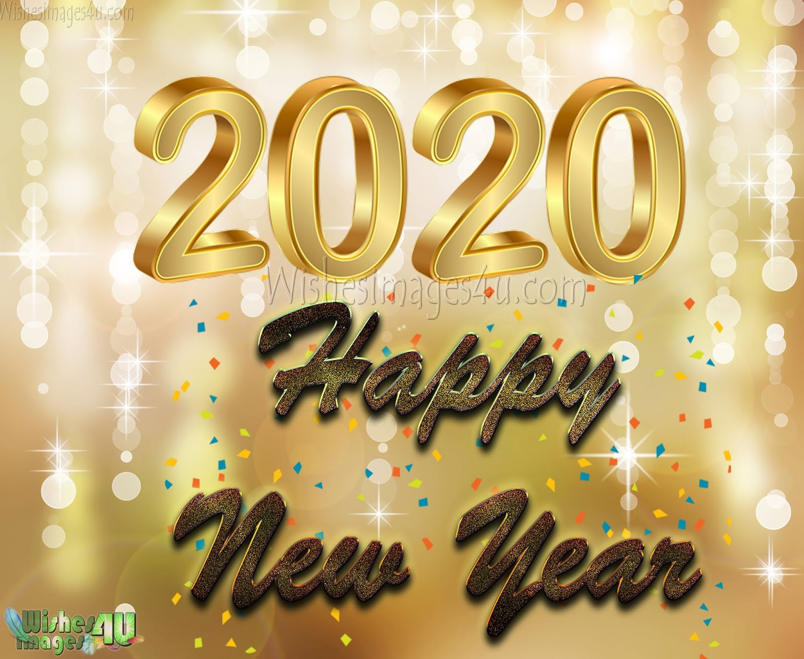 Happy New Year 2020 Golden Photo Greetings Download Free ...