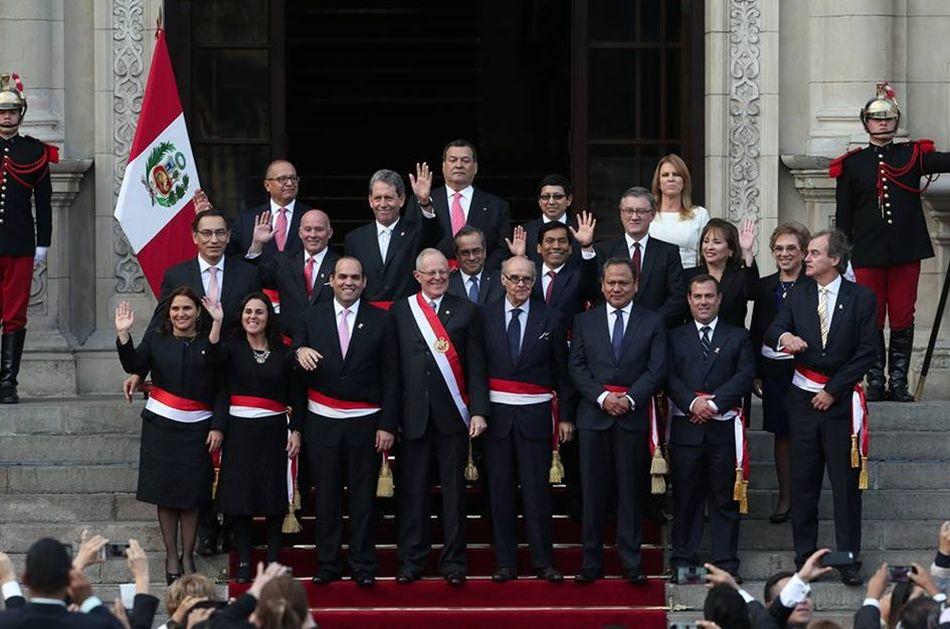 A julio del 2017 quienes conforman el gabinete de for Ministros del peru