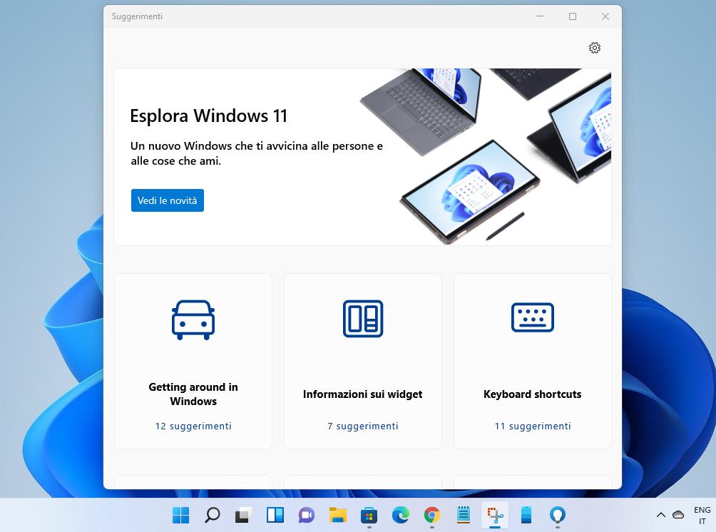 L'app Suggerimenti adesso mostra le novità di Windows 11