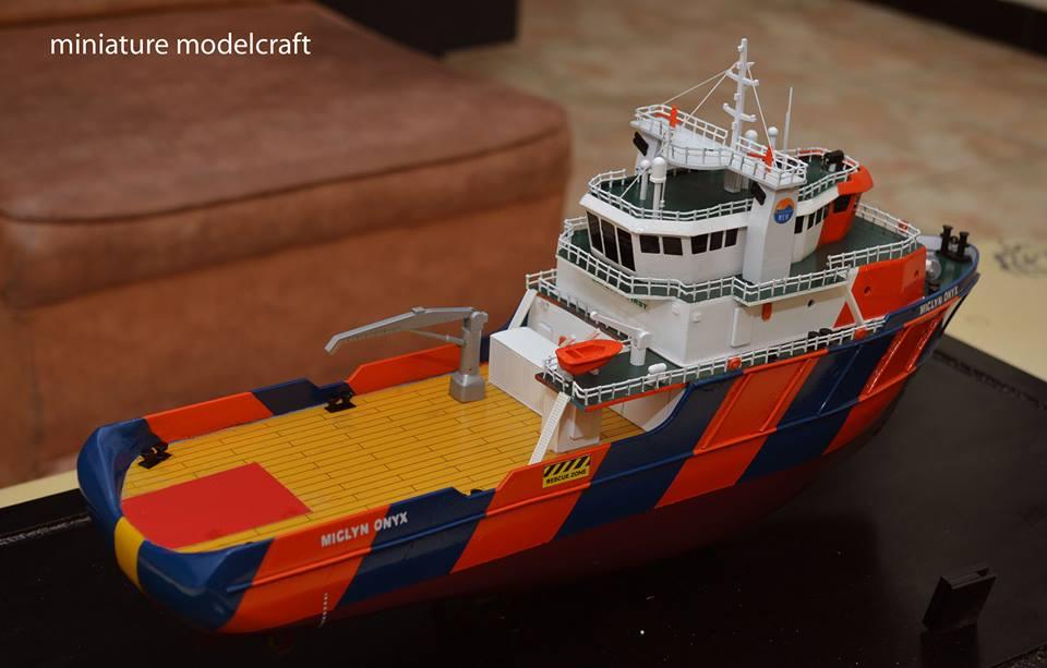 souvenir miniatur kapal ahts miclyn onyx terbaik rumpun art work planet kapal