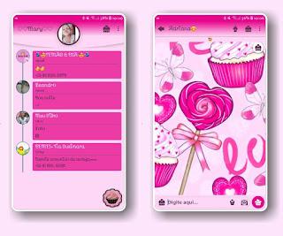 Lolipop & Ice Cream Theme For YOWhatsApp & Fouad WhatsApp By Mary Silva