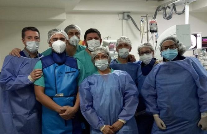 Novedosa intervención intraventricular en el Hospital Notti