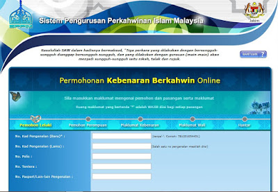 Permohonan Kebenaran Berkahwin Online Melalui Sistem SPPIM
