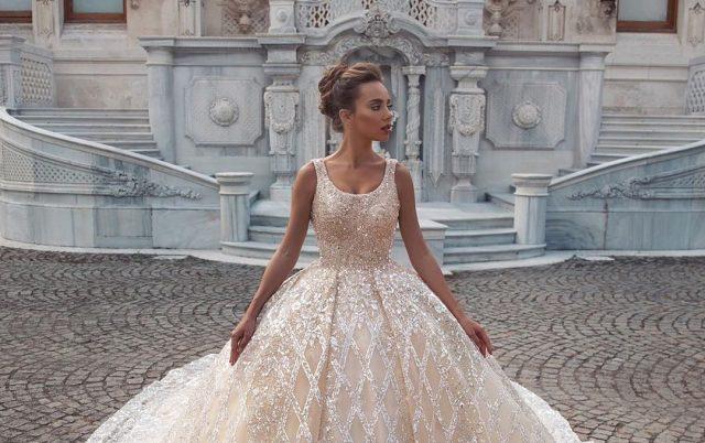 Vestido de novia de diamantes-PuroIngenio
