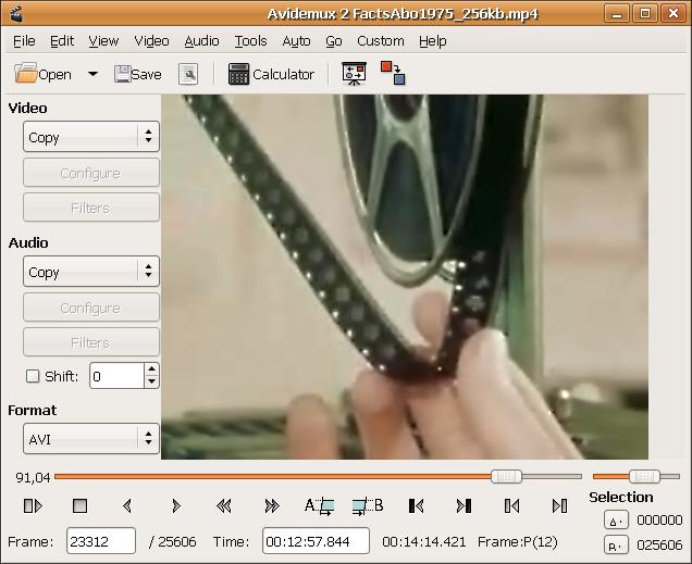 AviDemux 2.7.2 - Δωρεάν πρόγραμμα επεξεργασίας βίντεο