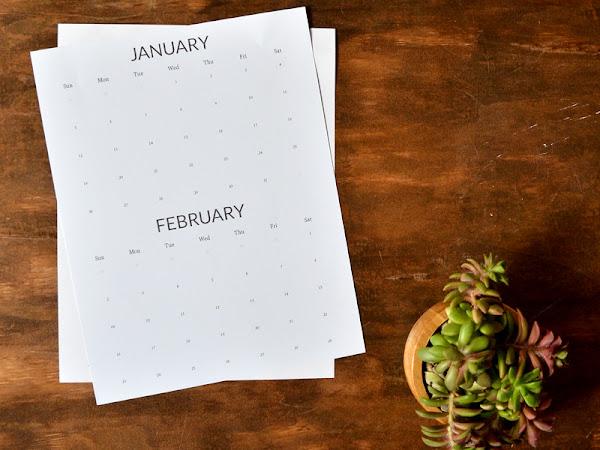 Free Minimalist Printable 2020 Calendar