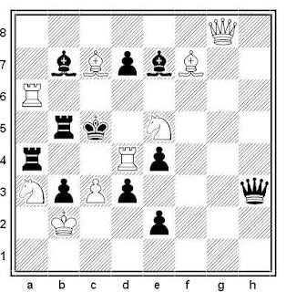Problema de mate en 2 compuesto por Alfreds Dombrowskis (Premio Especial, Vechernaya Odessa 1974)