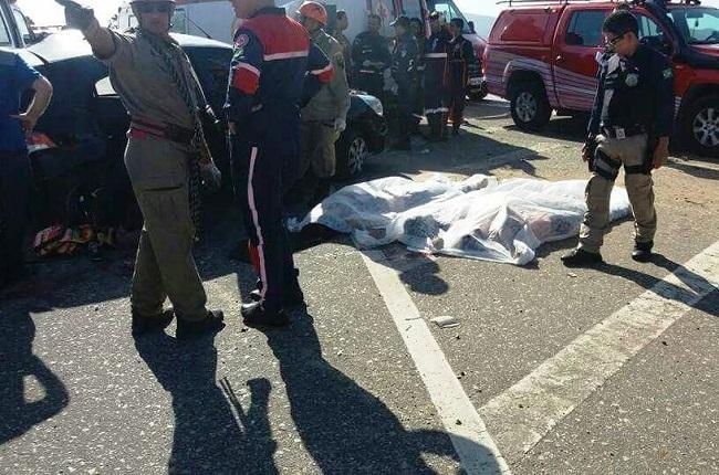 Quatro acidentes em estradas cearenses, no intervalo de oito horas, deixam sete mortos e cinco feridos nesta quarta-feira (23)