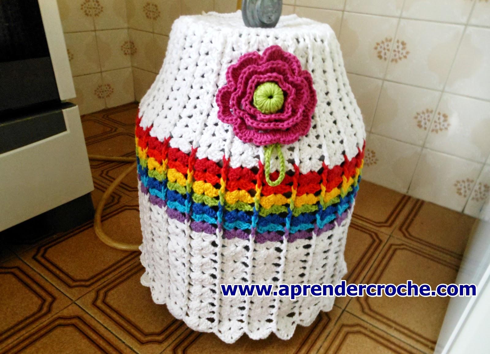 aprender croche Como fazer essa linda capa de crochê para botijão de gás com edinir croche