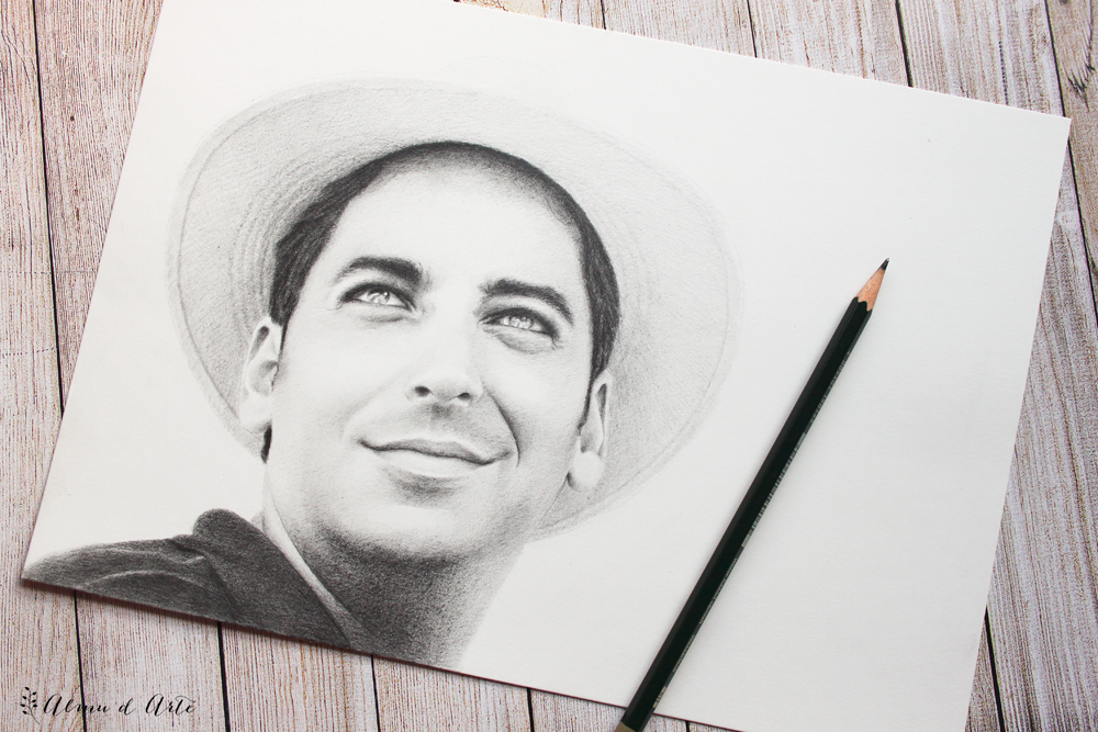 Retrato masculino a lápiz