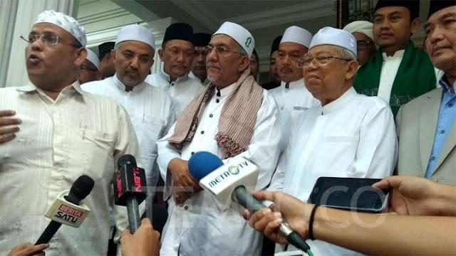 Para Ulama dan Habaib Sambangi KH Ma'ruf Amin Deklarasikan Dukungan
